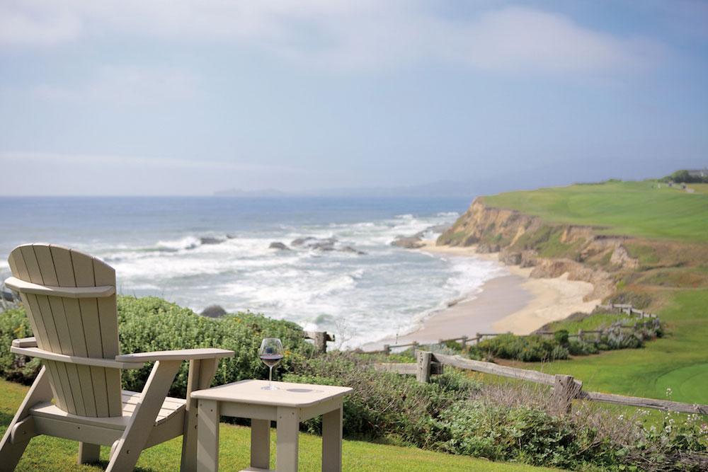 The view from the Ritz-Carlton, Half Moon Bay