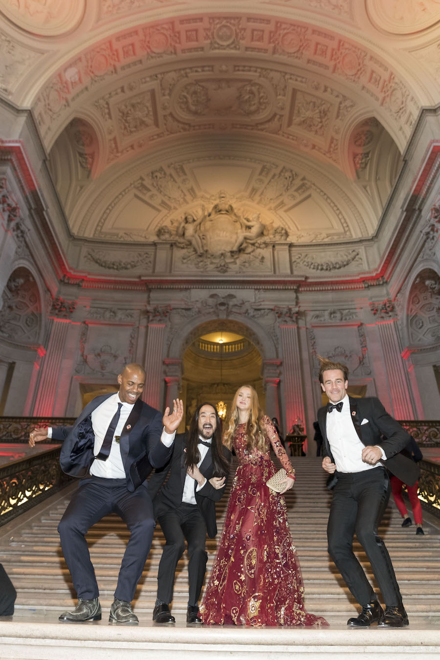 Mehcad Brooks, Steve Aoki, Devon Aoki and James van der Beek at the Gala on Saturday night