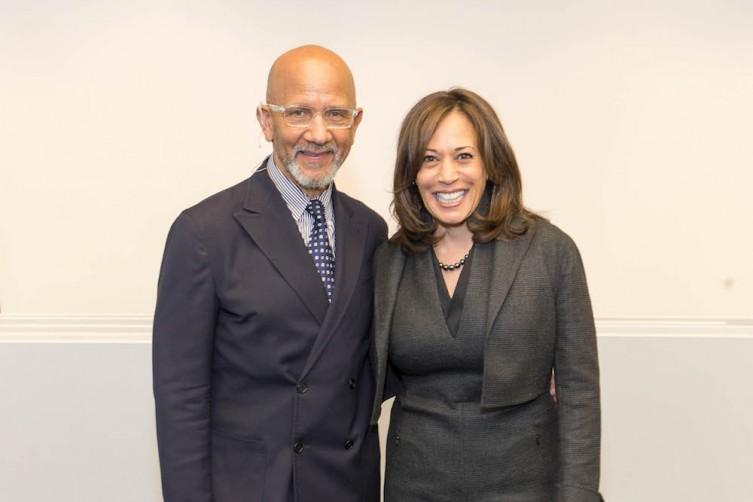 Chuck Collins and Senator Kamala Harris