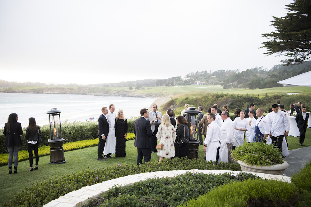 Chefs mingling at the 2017 Pebble Beach Food & Wine festival