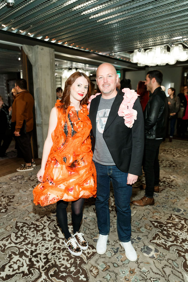 Erin Carlson and David Nash both wearing Tokyo Gamine