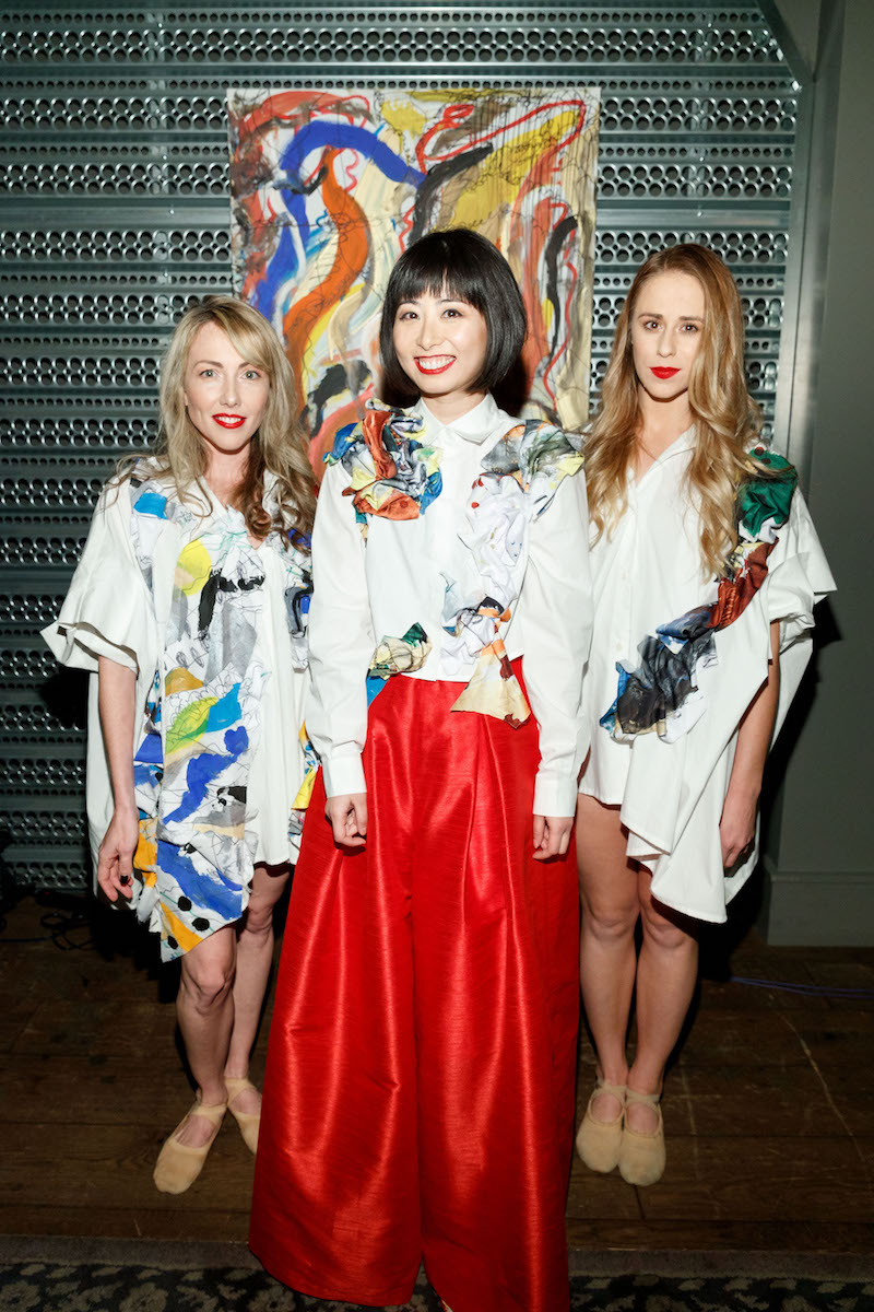 Terrin Kelly, Yuka Uehara and Leigh Collins