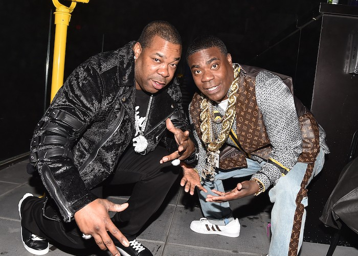 "Busta Rhymes and Tracy Morgan at the after party for ""The Last O.G."" at Westlight, Brooklyn, NY"