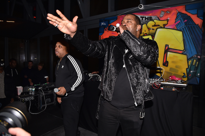 """Busta Rhymes performing at the after party for """"The Last O.G."""" at Westlight, Brooklyn, NY"""