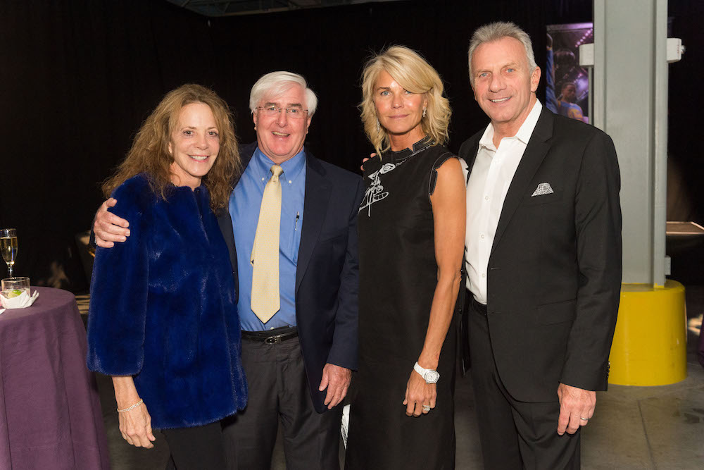 Gayle Conway, Ron Conway, Jennifer Montana and Joe Montana at last year's event