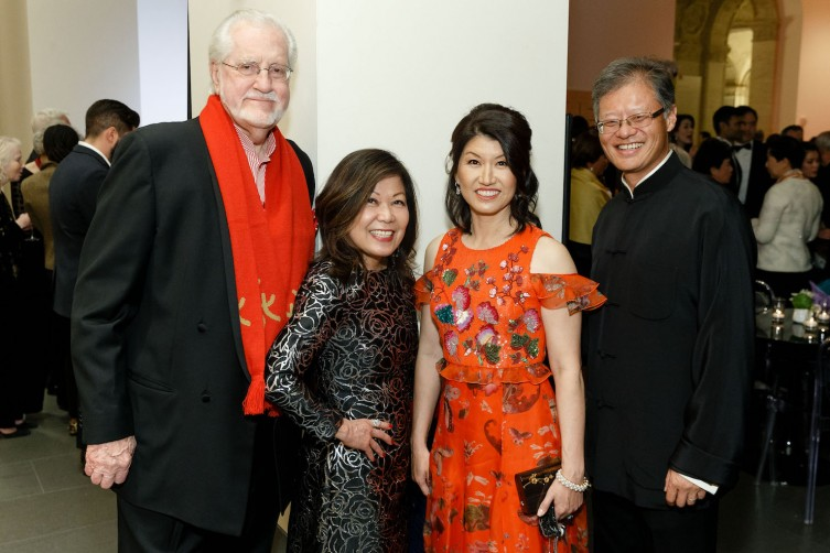 SAN FRANCISCO, CA - March 1 -  Joe Cotchett, Nanci Nishimura, Akiko Yamazaki and Jerry Yang attend Asian Art Museum Gala 2018 on March 1st 2018 at Asian Art Museum in san francisco, CA (Photo - Devlin Shand for Drew Altizer Photography)