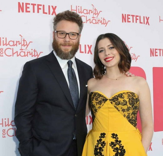 Seth Rogen and Lauren Miller attend their Hilarity For Charity at Hollywood Palladium