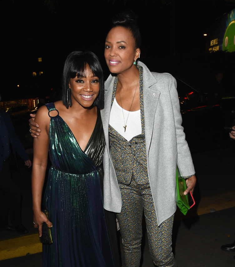Tiffany Haddish (L) and Aisha Tyler attend the Cadillac Oscar Week Celebration at Chateau Marmont