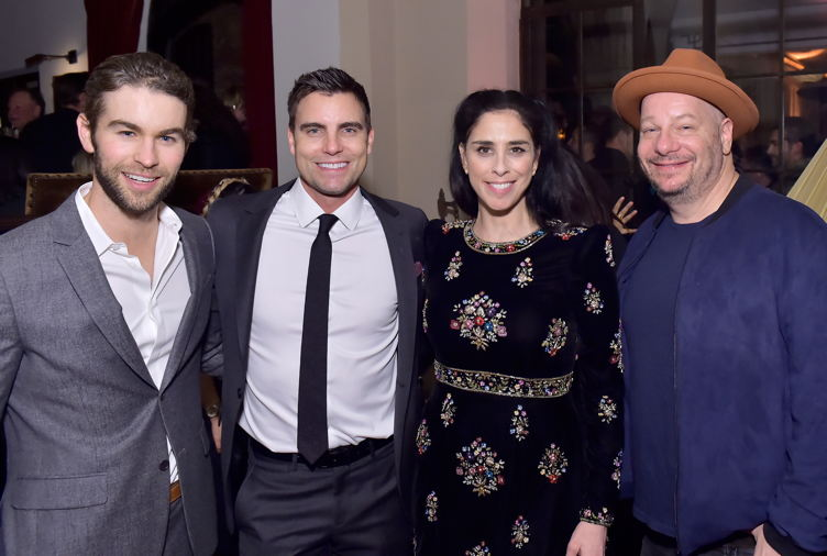 (L-R) Chace Crawford, Colin Egglesfield, Sarah Silverman and Jeff Ross