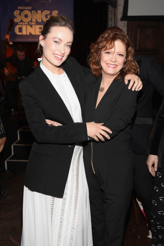 Olivia Wilde and Susan Sarandon attend BOVET 1822 &; Artists for Peace and Justice Present Songs From The Cinema Benefit