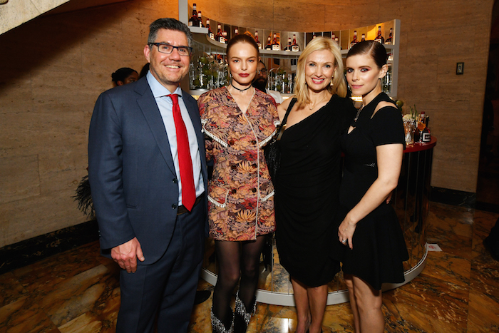 CEO of Campari Group Bob Kunze-Concewitz, actress Kate Bosworth, Vice President Marketing at Campari America Melanie Batchelor, and actress Kate Mara