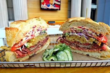 BEER PARK St. Patrick's Day Corned Beef Sandwich