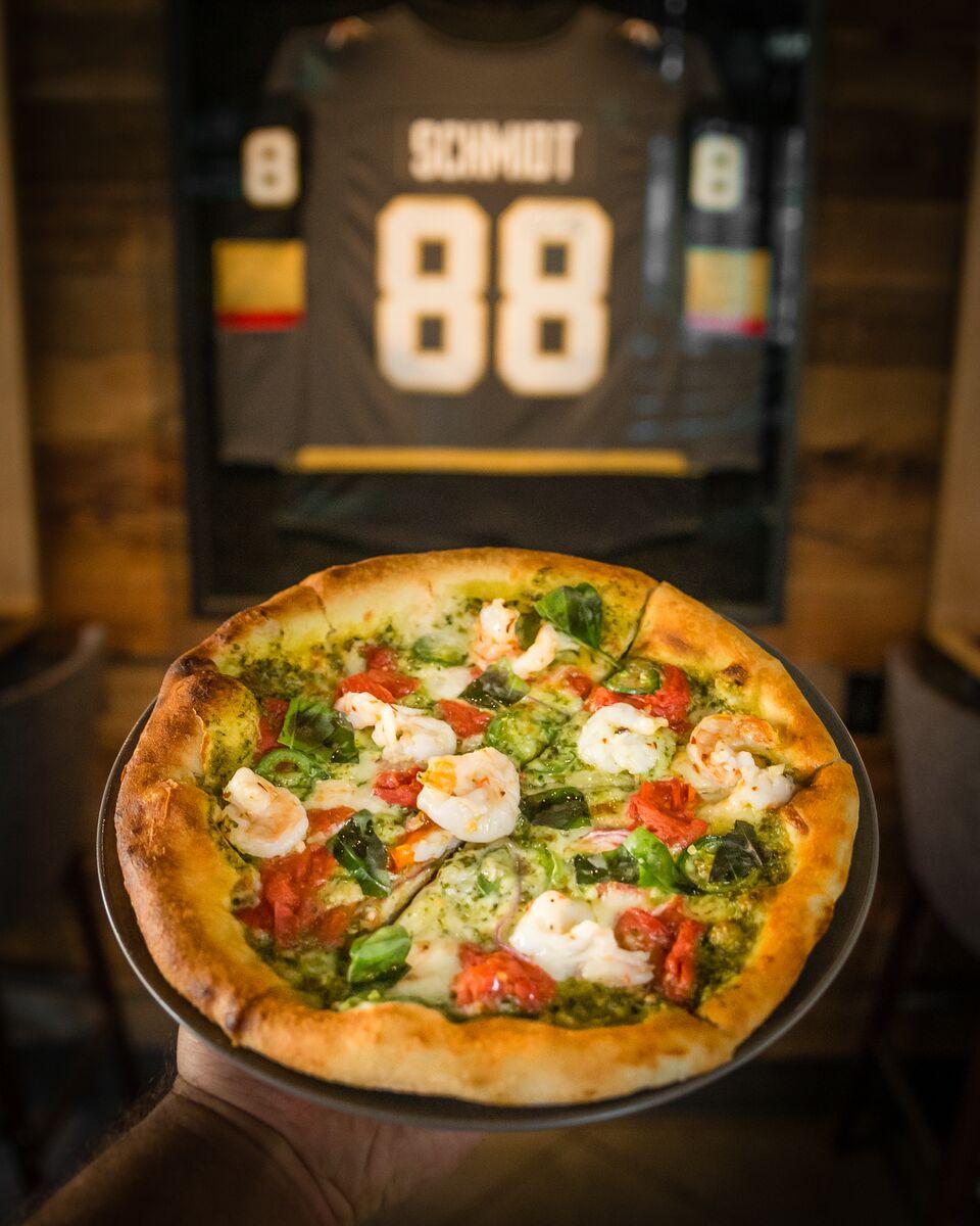 Take A Look At Wolfgang Pucks\' Vegas Golden Knights Pizza