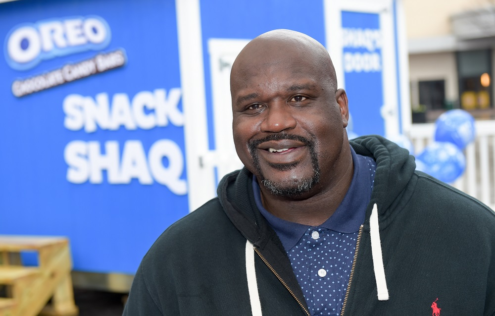 ATLANTA, GA – March 06: To celebrate National OREO Day, OREO Chocolate Candy Bar teamed up with Basketball Hall of Famer, Shaquille O'Neal – whose birthday is also March 6 – to give away 1 million free OREO Chocolate Candy Bars. To learn more, follow #OreoBirthdayGiveaway or visit OreoBirthdayGiveaway.com.