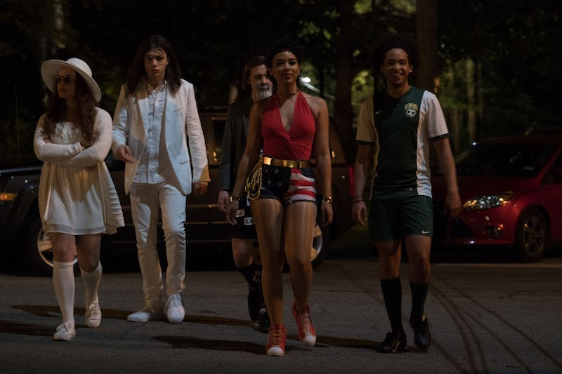 L-R: Katherine Langford (Leah), Nick Robinson (Simon), Logan Miller (Martin), Alexandra Shipp (Abby), and Jorge Lendeborg (Nick) star in Twentieth Century Fox's LOVE, SIMON.