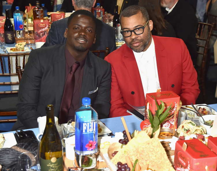 Actor Daniel Kaluuya (L) and director Jordan Peele attended the 33rd Annual Film Independent Spirit Awards