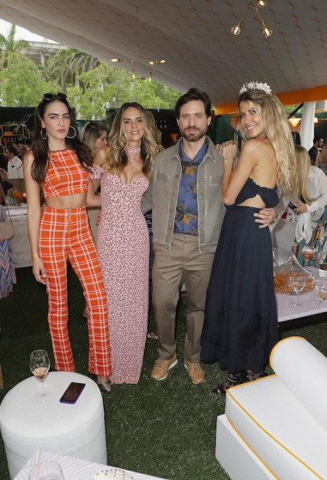 MIAMI, FL - MARCH 10: Daniela Botero, Karen Martinez, Edgar Ramirez and Martha Graeff attend the 4th Annual Veuve Clicquot Carnaval at Museum Park on March 10, 2018 in Miami, Florida. (Photo by John Parra/Getty Images for Veuve Clicquot)