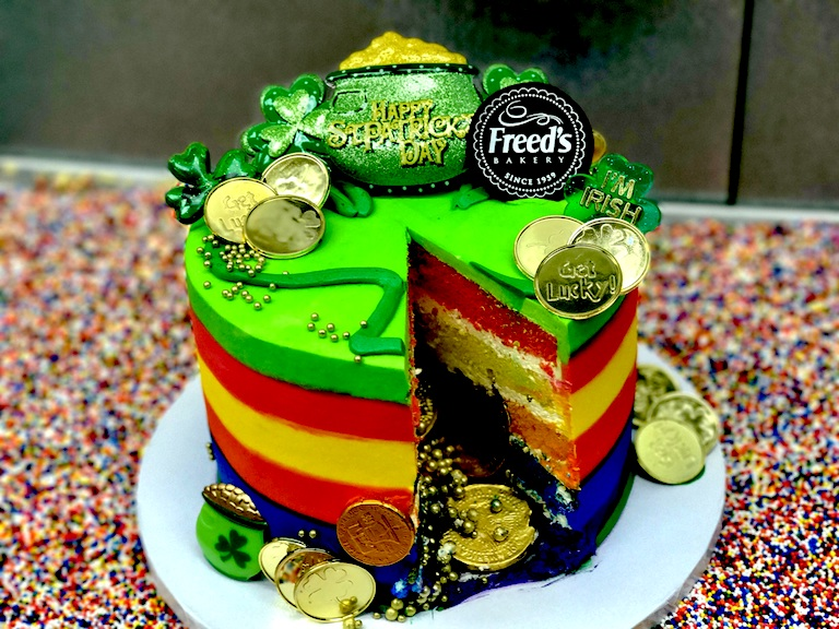 Freed's Bakery Rainbow Pot of Gold Cake Las Vegas Haute Living Tita Carra