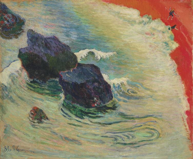 Paul Gauguin La Vague Signed and dated 'P Gauguin 88.' (lower left) Oil on canvas