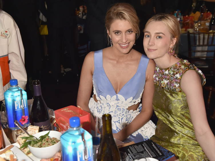 Actor/writer/director Greta Gerwig (L) and actor Saoirse Ronan attend the 33rd Annual Film Independent Spirit Awards )