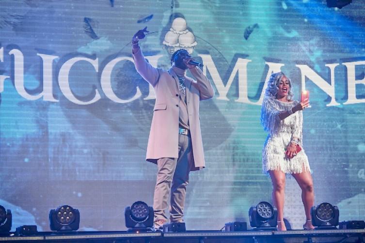 Gucci Mane Keyshia Ka'Oira Elite TAO Venetian Las Vegas Haute Living Tita Carra