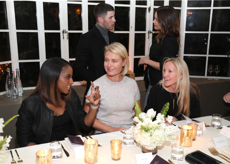 Isha Sesay, Tosca Musk, Daniella Hunter, Nick Jonas and Sophia Bush