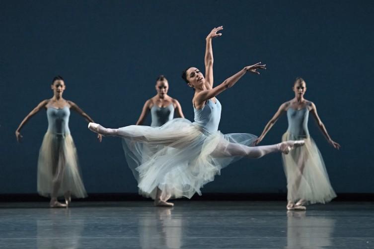 Jeanette Delgado in Serenade. Choreography by George Balanchine © The George Balanchine Trust. Photo © Gene Schiavone.