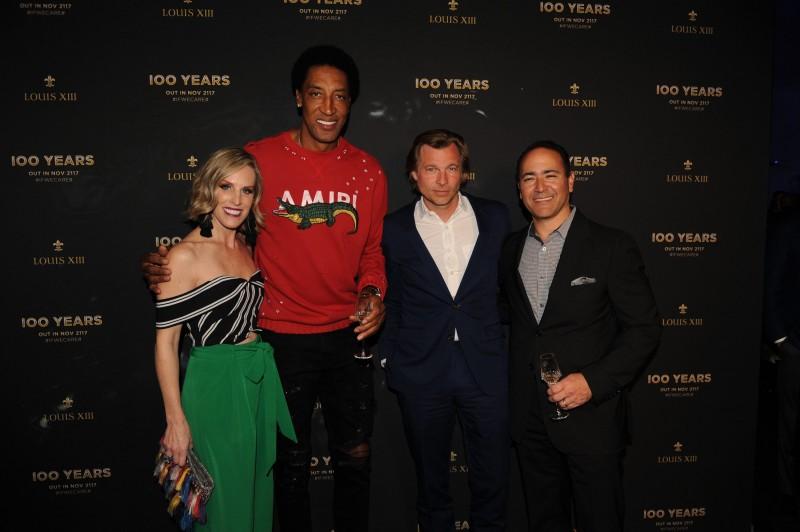 Jennifer Montoya, Scottie Pippen, Ludovic du Plessis, & Gabriel Montoya1