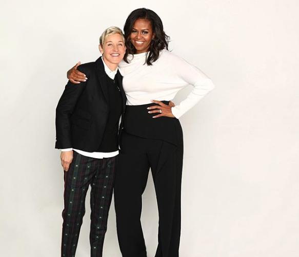 Michelle Obama-Ellen DeGeneres