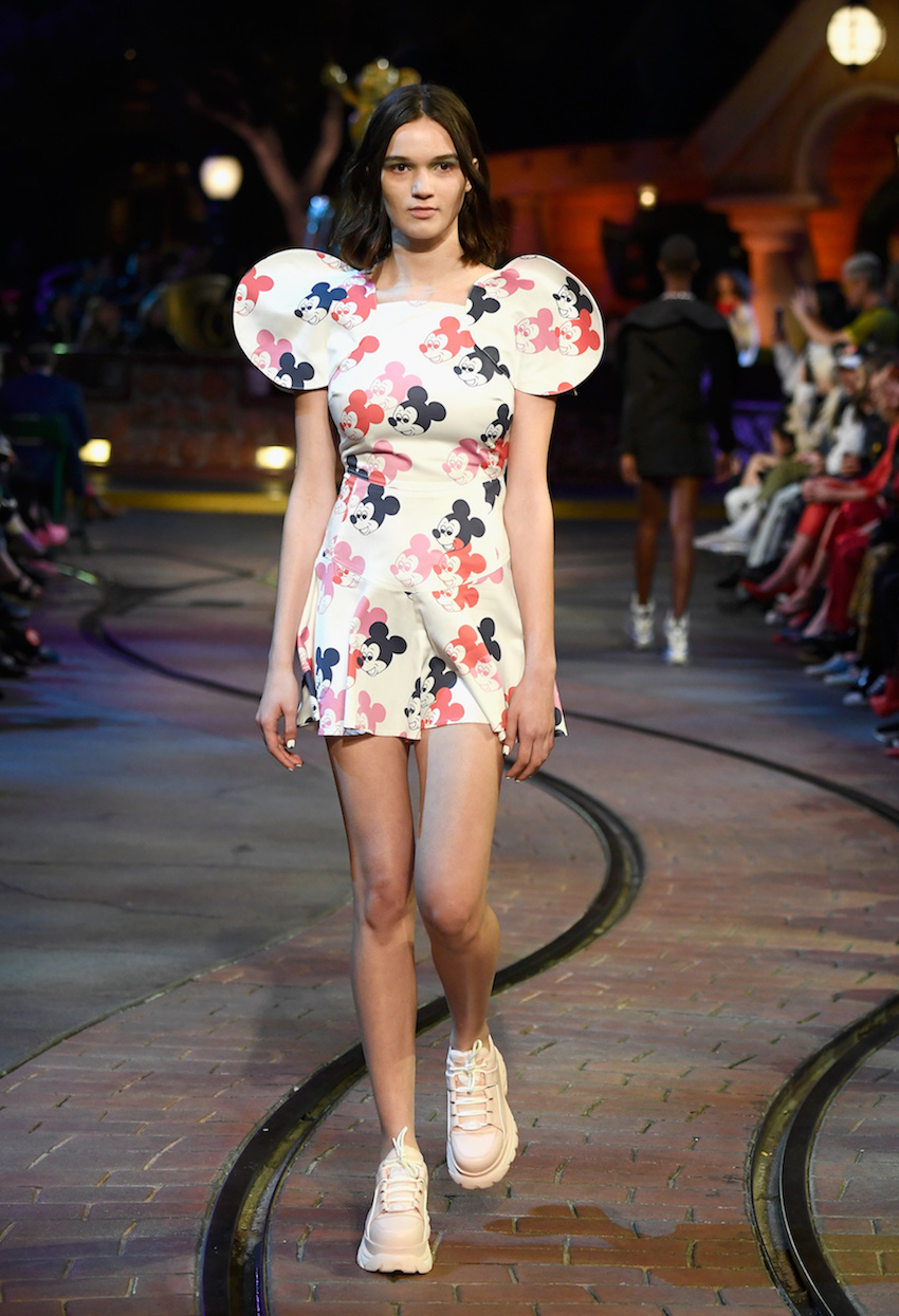 "ANAHEIM, CA - MARCH 07: Disney kicks off ""Mickey the True Original"" campaign in celebration of Mickey's 90th anniversary with a fashion show featuring a Mickey-inspired collection by Opening Ceremony at Disneyland on March 7, 2018 in Anaheim, California. (Photo by Frazer Harrison/Getty Images for Disney)"