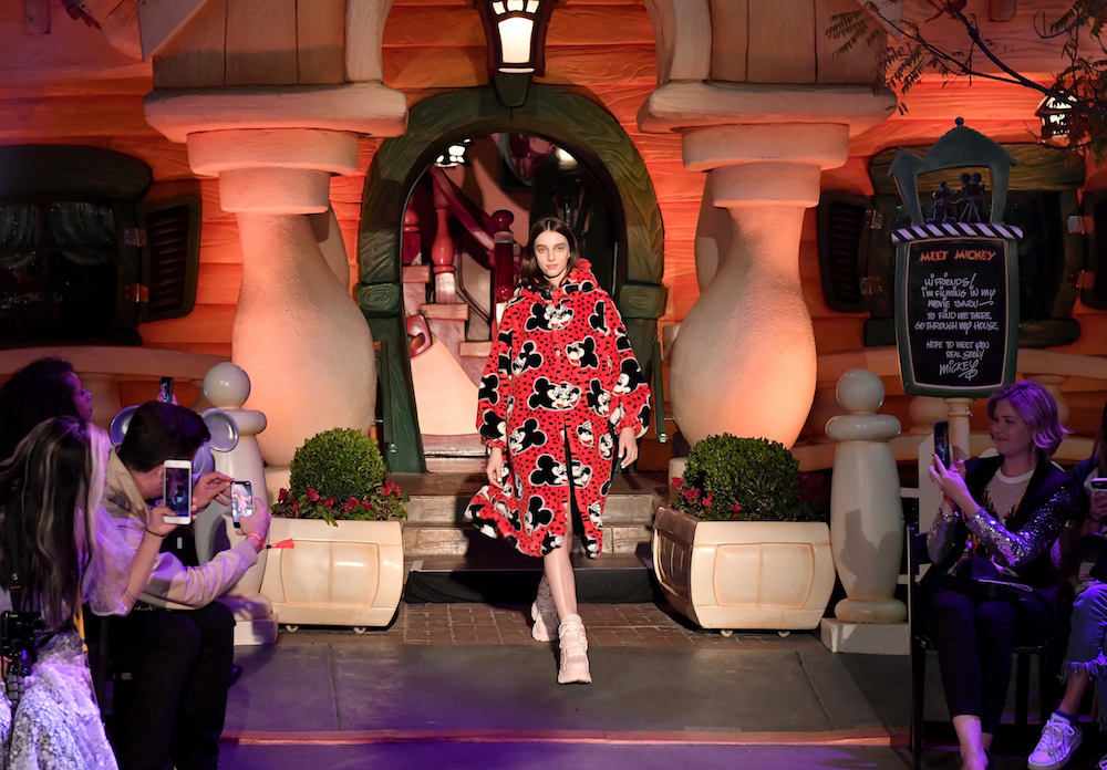 "ANAHEIM, CA - MARCH 07: Disney kicks off ""Mickey the True Original"" campaign in celebration of Mickey's 90th anniversary with a fashion show featuring a Mickey-inspired collection by Opening Ceremony at Disneyland on March 7, 2018 in Anaheim, California. (Photo by Neilson Barnard/Getty Images for Disney)"
