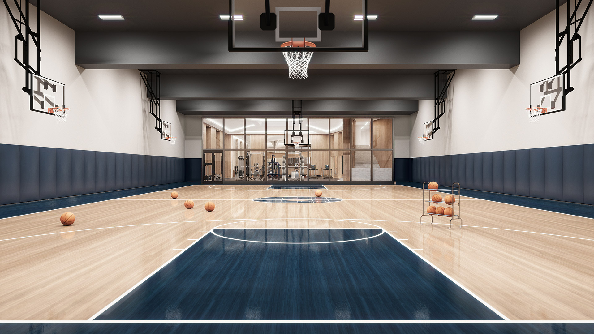 Swanky Residential Basketball Courts Just In Time For March Madness