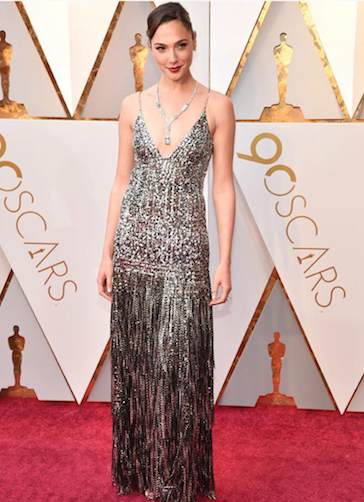 Gal Gadot in Givenchy haute couture at the 90th Academy Awards