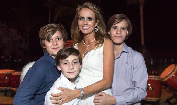 Ana Cristina Defortuna with her sons