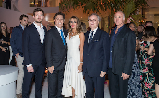Jason Frantzen of Herzog & de Meuron, Edgardo Defortuna, Ana Cristina Defortuna, Pierre-Yves Rochon, Raymond Jungles