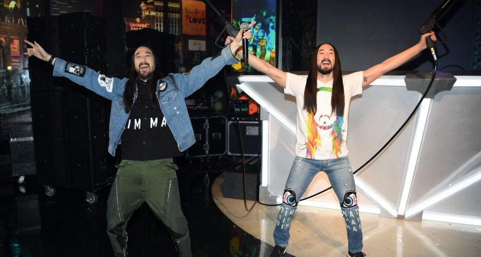 Exclusive First Look: Steve Aoki Visits Madame Tussauds To Check Out His Identical Wax Figure