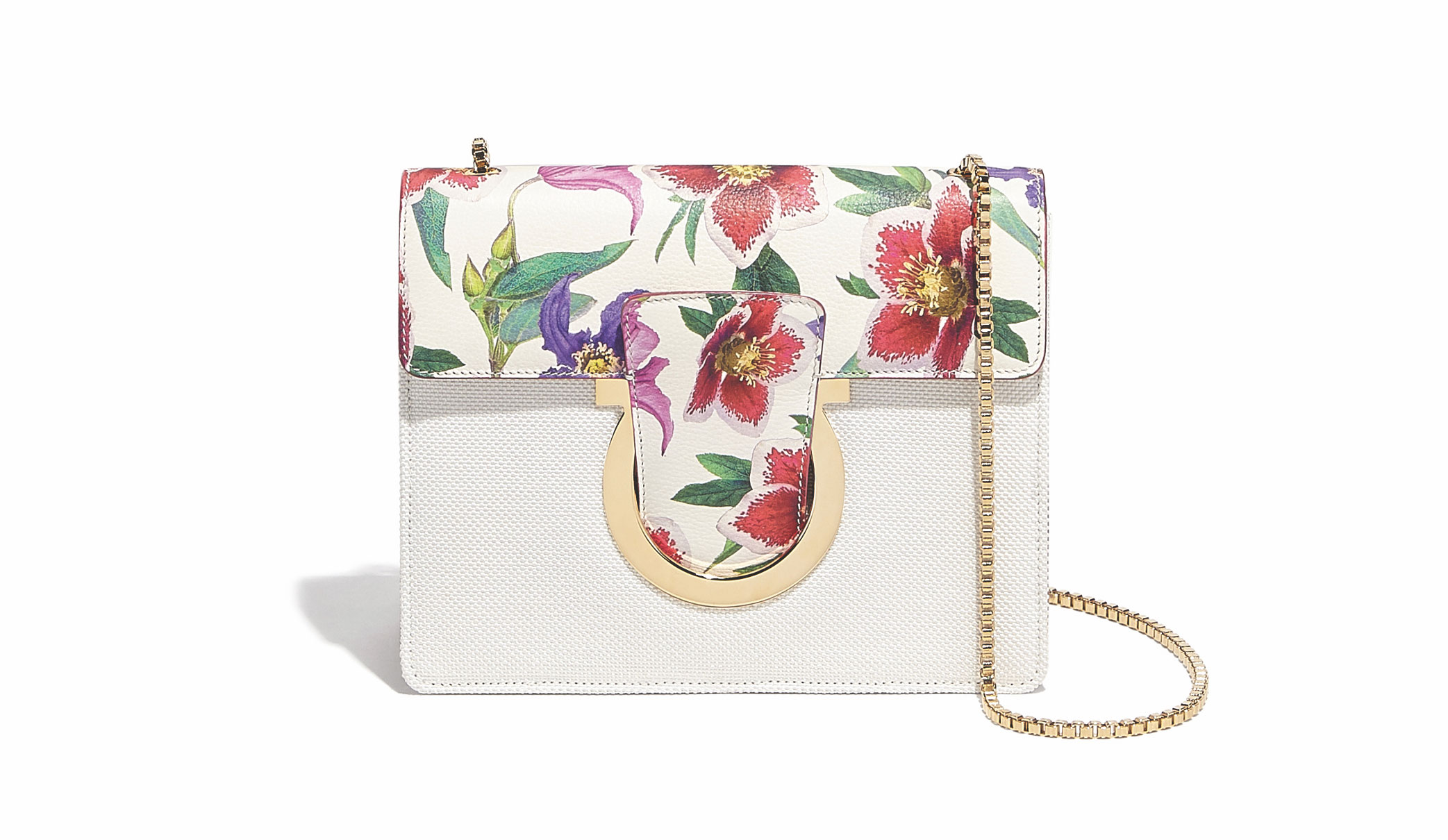 A handbag from the new collection