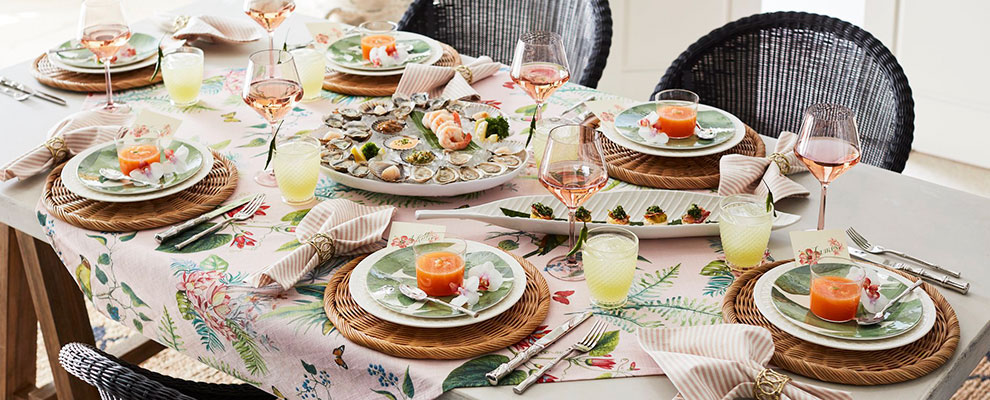 Pottery Barn's tropical collection