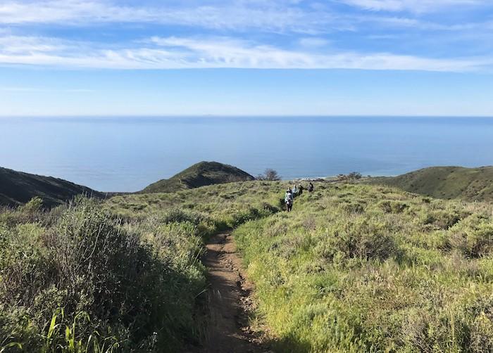 ocean hiking