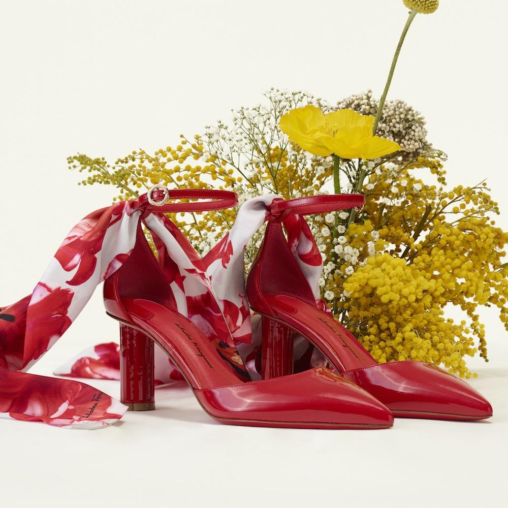 Salvatore Ferragamo Celebrates New Collection With Floral