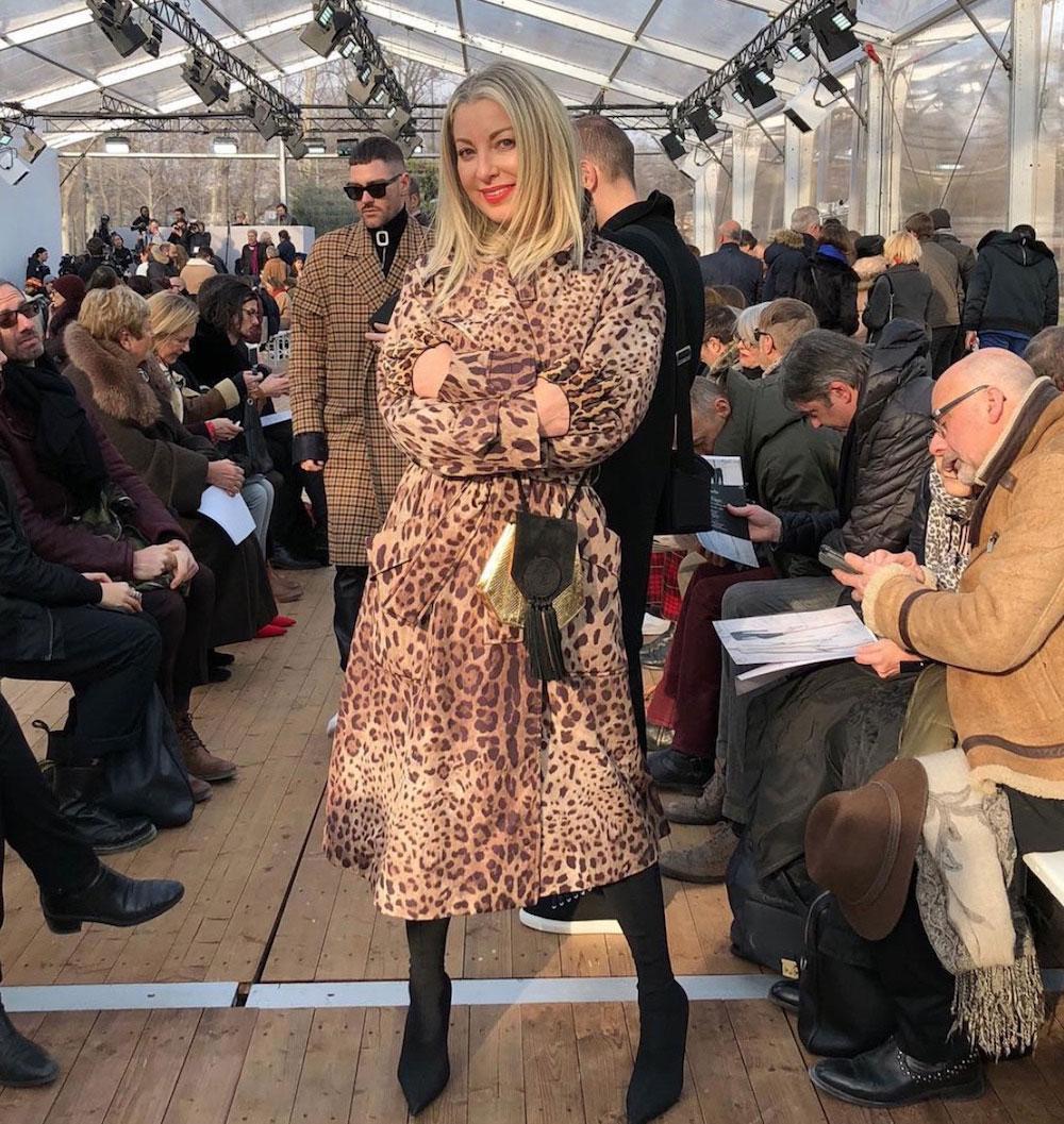 Sonya Molodetskaya at the Guy Laroche show