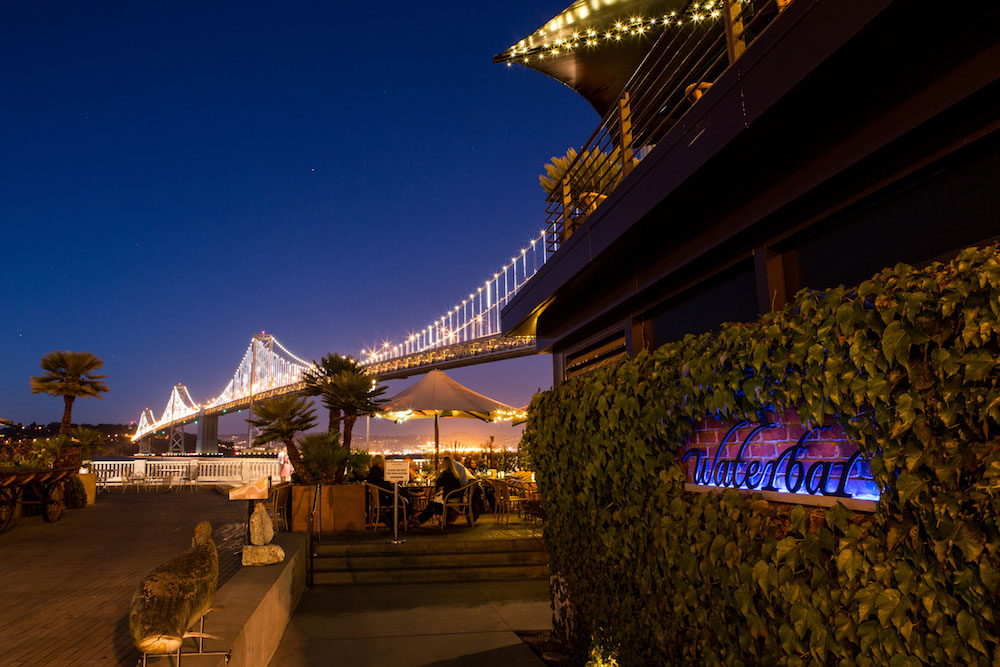 Waterbar has an excellent view of The Bay Lights