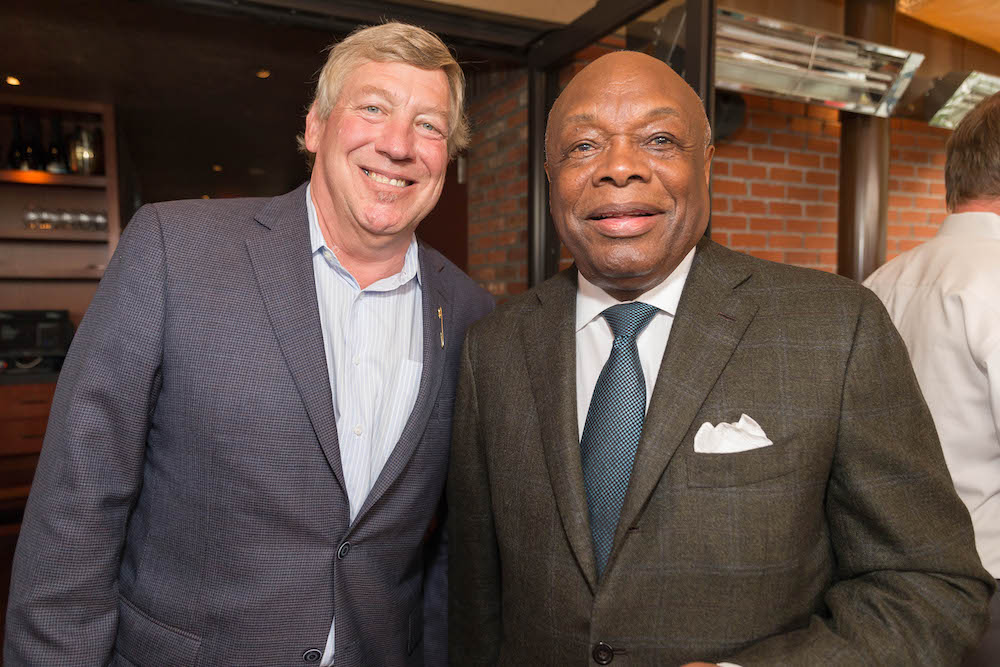 Pete Sittnick and his pal, former mayor Willie Brown