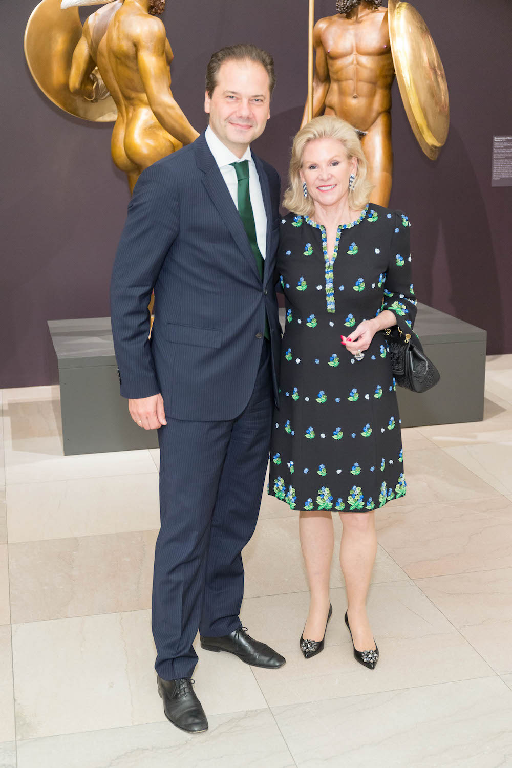 Max Hollein and Dede Wilsey at the Klimt & Rodin donor reception on October 26, 2017