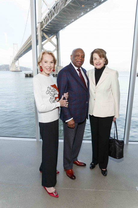 Charlotte Shultz, Willie Brown, and Diane Feinstein attend Presenting Fashion Collaboration Vasily Vein for Major Obsessions in Honor of Mayor Willie Brown's Birthday. (Photo - Drew Altizer)
