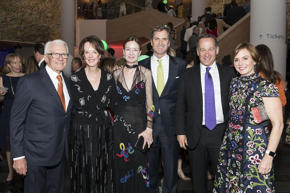 Chuck Schwab, Helen Schwab, Katie Schwab Paige, Ken Paige, Gary Pomerantz and Carrie Schwab Pomerantz