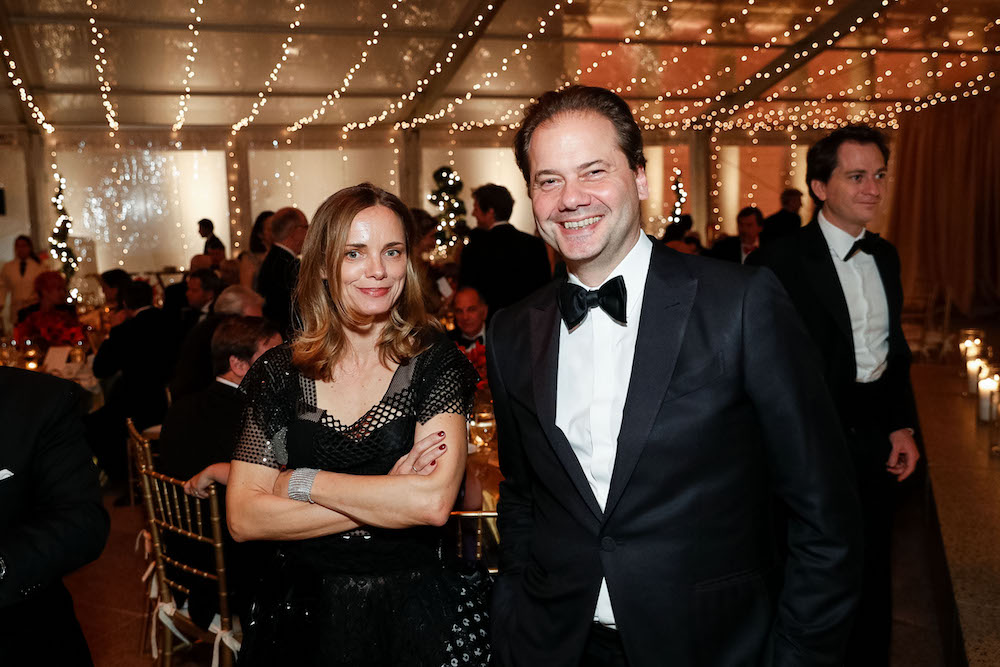 Nina Hollen and Max Hollein at An Elegant Evening in the Court of Honor last December