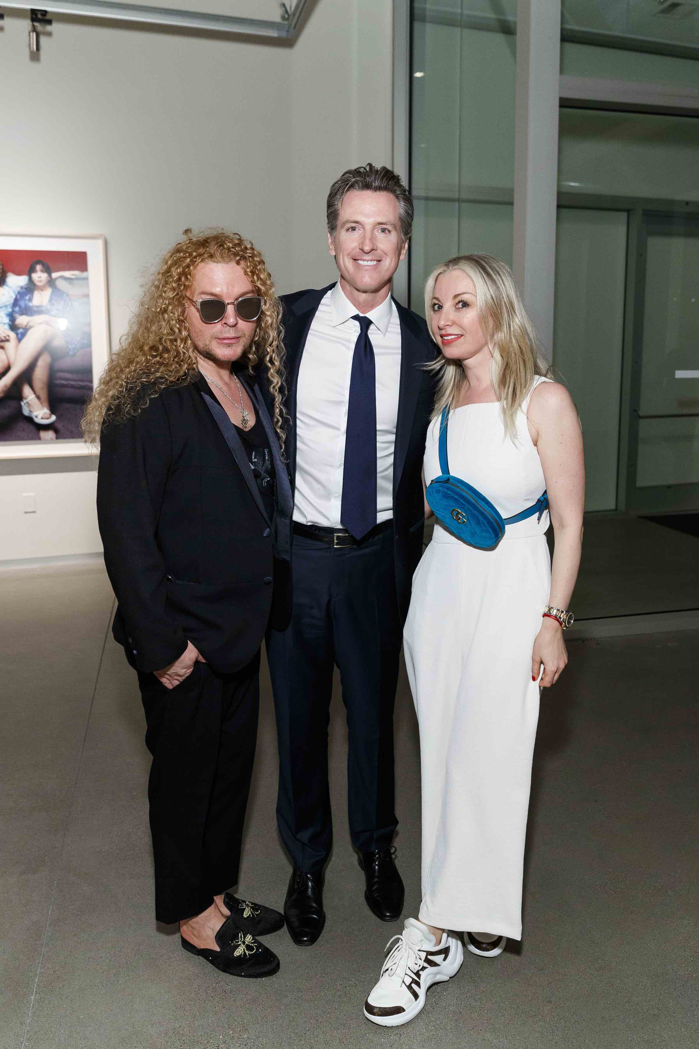 Vasily Vein, Gavin Newsom and Sonya Molodetskaya (Photo - Drew Altizer)