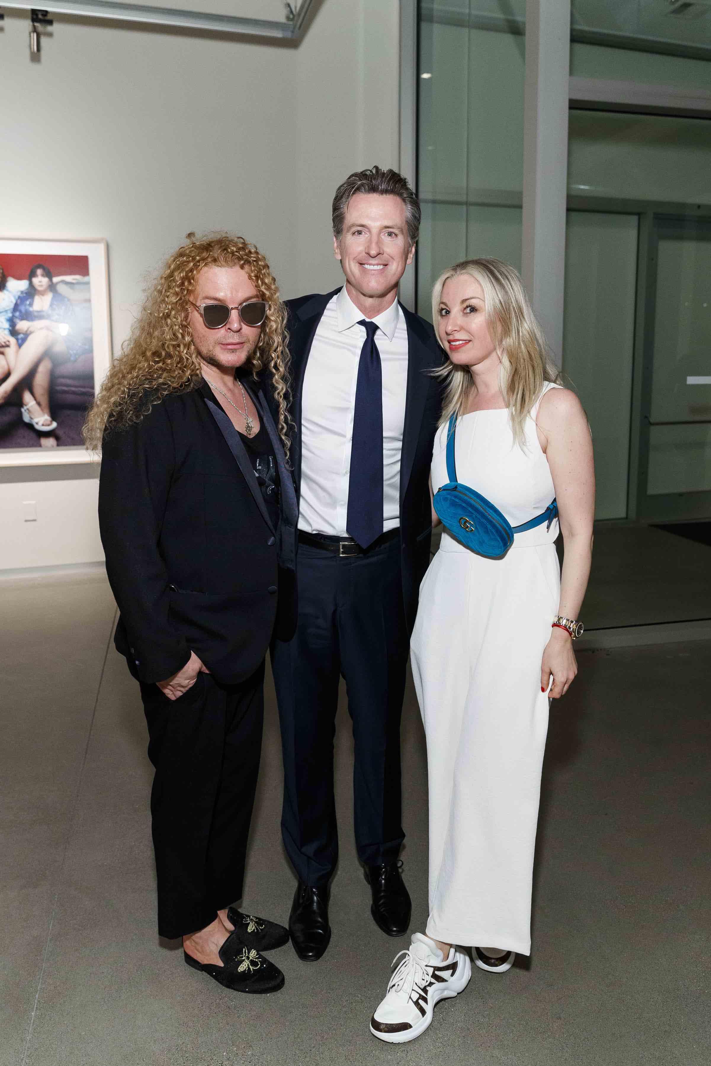 Vasily Vein, Gavin Newsom and Sonya Molodetskaya (Photo - Drew Altizer)
