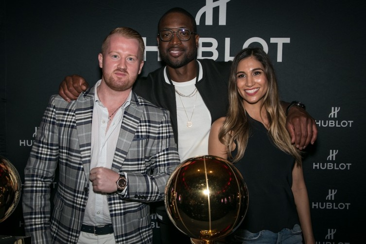 Wade posing with Hublot guests
